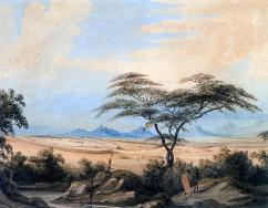 Zimbabwe_Matabele kraal 1836_Ndebele people