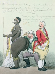 Sarah Baartman_A_Pair_of_Broad_Bottoms_caricature de William Heath 1810