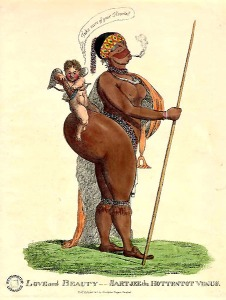 Sarah Baartman_Caricature drawn in early 19th century