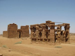 Nubia_Archaeological Sites of the Island of Meroe_Sculpted gantry