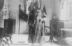 Comoros_Anjouan-Sultan_Saïd_Mohamed 1920s