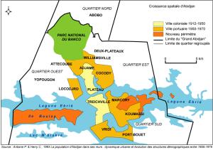 Cote dIvoire_Abidjan map