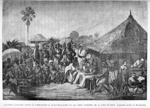 Cote dIvoire_E._Bouët-Willaumez_et_les_chefs_indigènes de la cote de Krou 1890