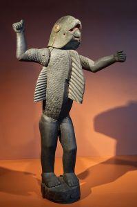 Benin_Fon statue symbolizing Behanzin Man shark