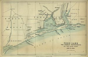 Togoland_Map of Togoland in 1885