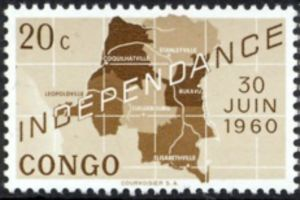 DRC_Republic_of_the_Congo_(Léopoldville)_-_Commemoration_Independence_Stamp