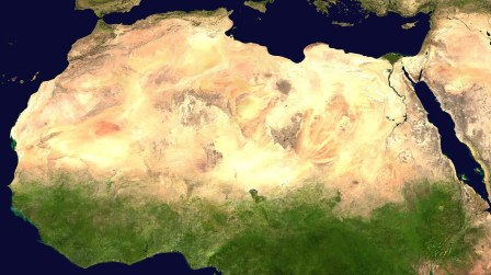 Sahara desert from space