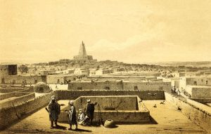 Mali_Timbuktu from a terrace by Heinrich Barth 1858