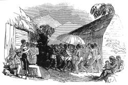 Cameroun_Joseph Merrick_at_Isubu_funeral in 1845