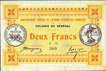 Monnaie_Bank of Senegal 1917