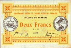 Monnaie_Bank of Senegal 1917