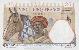 Monnaie_Bank of Senegal 1938