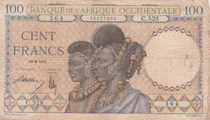 Monnaie_Bank of Senegal 1941