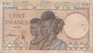 Monnaie_Bank of Senegal 1941